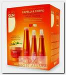 Набор для волос (шампунь 300 мл, маска 500 мл, защитное масло 150 мл, защитный лосьон для загара 150 мл) / KAY SUN