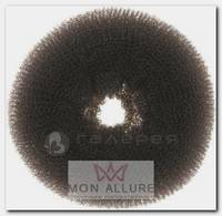 Валик для прически, сетка, коричневый d 10 см