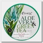 Патчи гидрогелевые с экстрактом алоэ вера и зеленого чая / ALOE VERA & GREEN TEA HYDROGEL EYE PATCH 60 шт