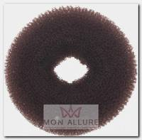 Валик для прически, сетка, коричневый d 8 см