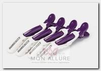 Зажимы для волос, белый с фиолетовым 4 шт
