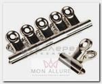 Зажим-прищепка металлическая для создания арочных ногтей 5 шт