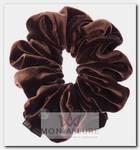 Резинка бархатная, цвет коричневый