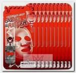 Маска тканевая с коллагеном для лица / Collagen Deep Power Ringer Mask Pack 10 шт