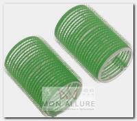Бигуди-липучки зеленые, d 48x63 мм 10 шт