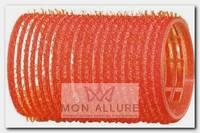 Бигуди-липучки красные d 36 мм 12 шт/уп