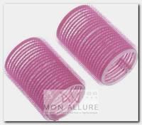 Бигуди-липучки розовые, d 24x63 мм 10 шт