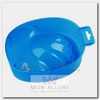 Ванночка пластиковая для маникюра, 14 прозрачно-синяя