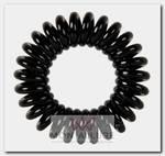 Резинки для волос Пружинка, цвет черный 3 шт