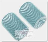 Бигуди-липучки голубые, d 28x63 мм 10 шт