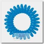 Резинки для волос Пружинка, цвет синий 3 шт