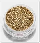 Бульонки металлические, золото 1 мм 7 г