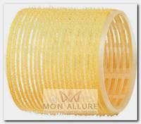 Бигуди-липучки желтые d 65 мм 6 шт/уп
