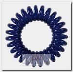 Резинки для волос Пружинка, цвет темно-синий 3 шт