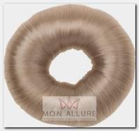 Валик для прически, искусственный волос, блондин d 8 см