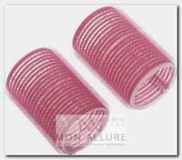 Бигуди-липучки розовые, d 44x63 мм 10 шт