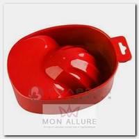 Ванночка пластиковая для маникюра, 03 красная