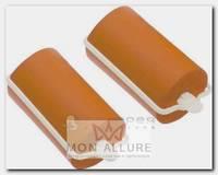 Бигуди резиновые оранжевые, d 32x70 мм 10 шт