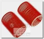 Бигуди-липучки красные d 13 мм 12 шт/уп