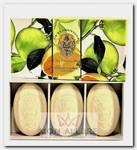 Набор натурального мыла, цитрус / Citrus 3 х 150 г