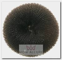 Валик для прически, губка, черный d 8 см