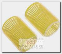 Бигуди-липучки желтые, d 32x63 мм 10 шт