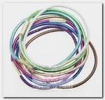 Резинки для волос midi блестящие, цветные 8 шт