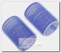 Бигуди-липучки синие, d 40x63 мм 10 шт