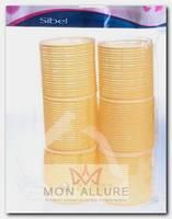 Бигуди-липучки желтые 66 мм 6 шт/уп