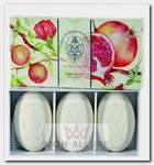 Набор натурального мыла, гранат / Pomegranate 3 х 150 г
