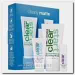Набор для лица (очищающий гель для умывания 75 мл, усилитель очищения воспалений 10 мл, матирующий дневной крем 15 мл) / Clear Start Clearly Matte Kit