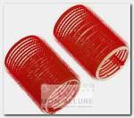 Бигуди-липучки красные, d 36x63 мм 10 шт