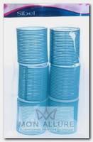 Бигуди-липучки голубые 56 мм 6 шт/уп