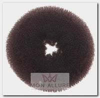 Валик для прически, губка, коричневый d 8 см