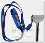 Выжиматель тюбика ключ, алюминиевый, на шнурке